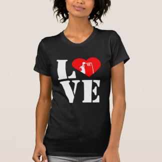 Heart and Player Theme Love Netball T-Shirt