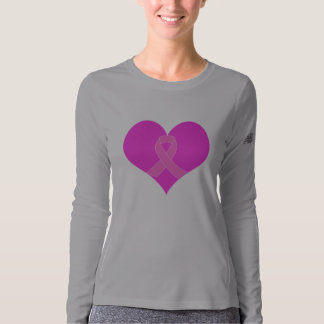 Heart and Ribbon Breast Cancer Charity Design T-shirt