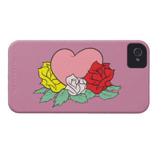 Heart and Roses Case-Mate iPhone 4 Case
