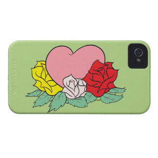 Heart and Roses iPhone 4 Cases