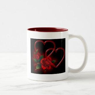 Heart and Roses Mug