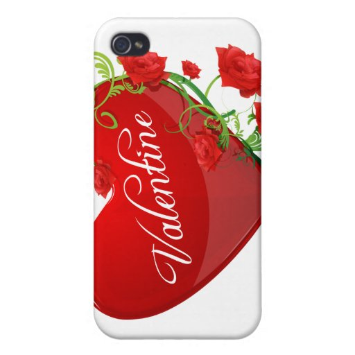 Heart and Roses Valentine iPhone 4/4S Cases