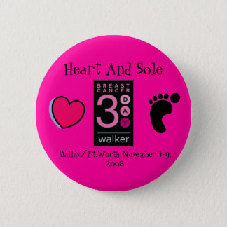Heart and Sole 3-day button