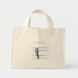 Heart and Soul - Blue Jay Mini Tote Bag