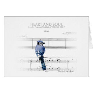 Heart and Soul - Blue Jay Note Card