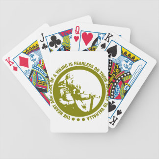 Heart And Soul Of A Viking Is Fearless - Valhalla Bicycle Playing Cards