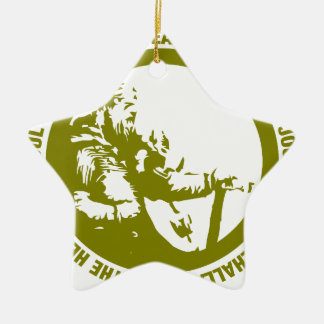 Heart And Soul Of A Viking Is Fearless - Valhalla Ceramic Star Ornament