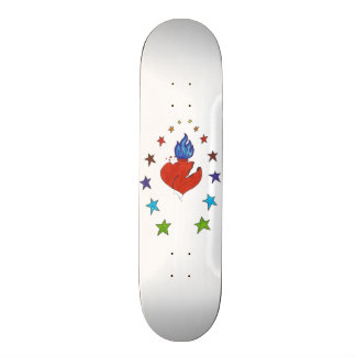 "Heart and  Stars 7 7/8"" Skateboard Deck"