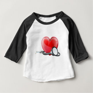 Heart and Stethoscope Concept Baby T-Shirt