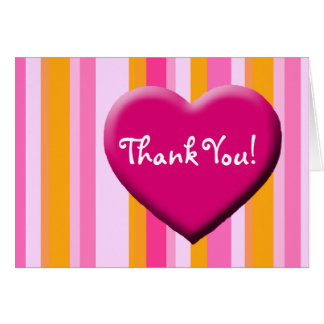 Heart and Stripes, Thank You! Greeting Card