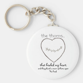 Heart and thorns. Spiritual key chain