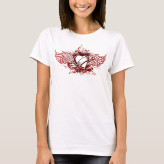 Heart & Angel Wings redONwhite Spaghetti Top (Fitt