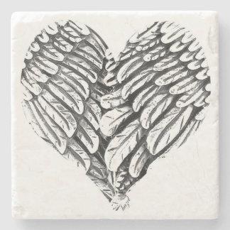 Heart, Angel Wings, Spiritual Coasters
