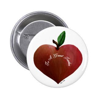 Heart Apple Teacher's Gift Button