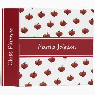 Heart Apples Teacher's Class Planner Vinyl Binder