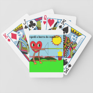 heart arcoflecha bicycle playing cards