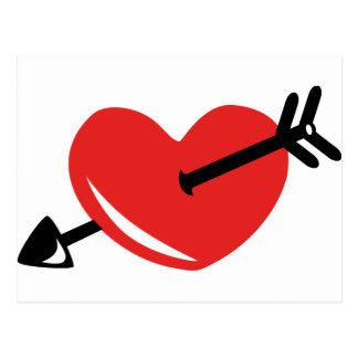 Heart arrow postcard