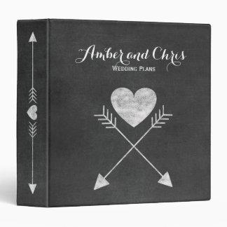 Heart Arrows Chalkboard Wedding Planner Binder