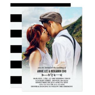 Heart & Arrows Custom Photo Wedding Card