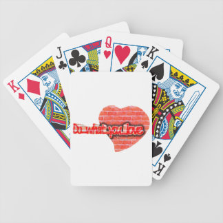 heart art bicycle playing cards