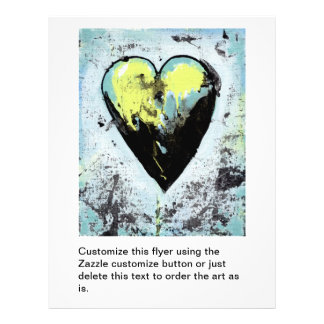 Heart art messy expressive scarred modern painting flyers