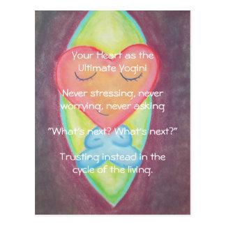Heart as Ultimate yogini postcard