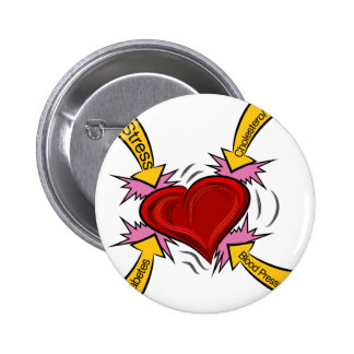 Heart Attack Causes 2 Inch Round Button