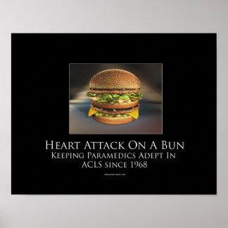 Heart Attack On A Bun Motivational Poster