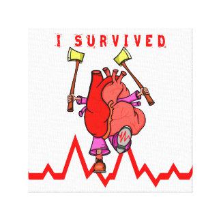 Heart attack survivor canvas print
