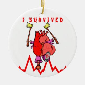 Heart Attack Survivor Ceramic Ornament