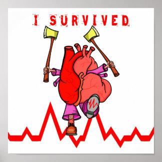 Heart attack survivor poster