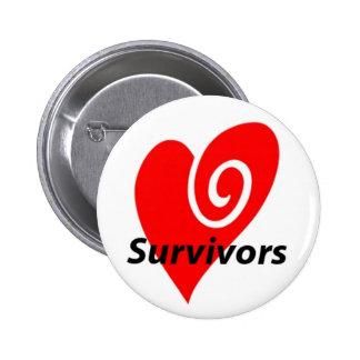 Heart Attack Survivors Button