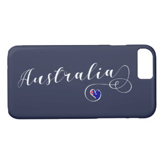 Heart Australia Cell Phone Case, Australian iPhone 8/7 Case