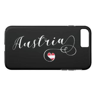 Heart Austria Cell Phone Case, Austrian Flag iPhone 8 Plus/7 Plus Case