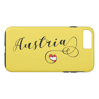Heart Austria Cell Phone Case, Austrian Flag iPhone 8 Plus/7 Plus Case
