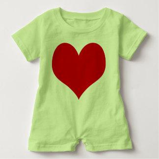 heart baby baby romper