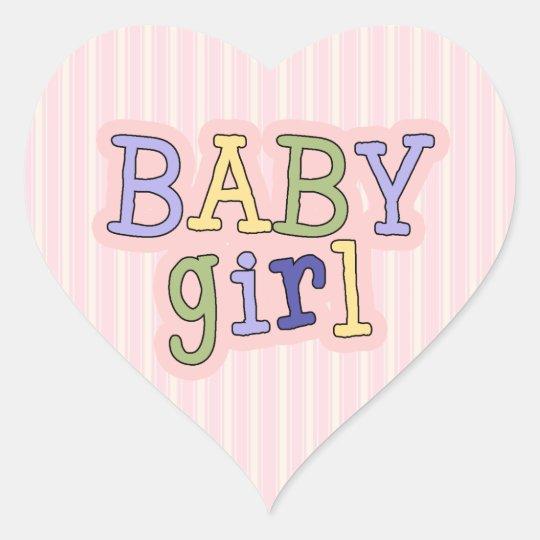 Heart Baby Girl Shower Envelope Seal