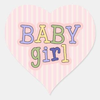 Heart Baby Girl Shower Envelope Seal Heart Sticker