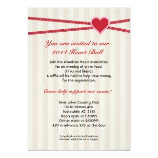 Heart Ball Fundraiser Event Invitation