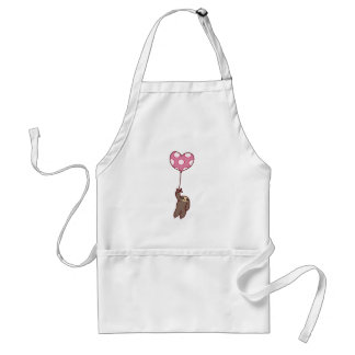 Heart Balloon Sloth Standard Apron