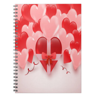 heart balloons spiral notebook
