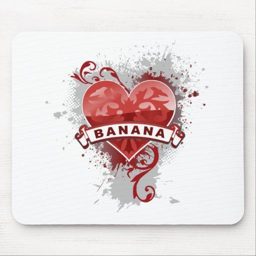 Heart Banana Mouse Pad