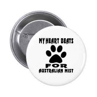 Heart Beat For AUSTRALIAN MIST 2 Inch Round Button