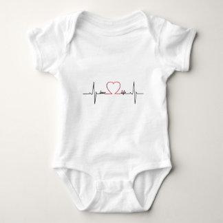 Heart beat love life inspirational quote baby baby bodysuit