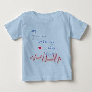 heart beat marine t shirt