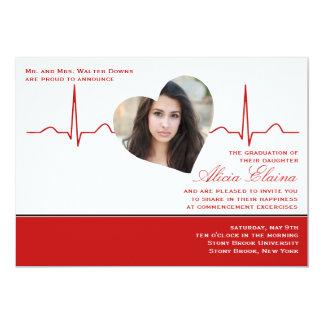 """Heart Beat Photo Announcement/Invitation 5"""" X 7"""" Invitation Card"""