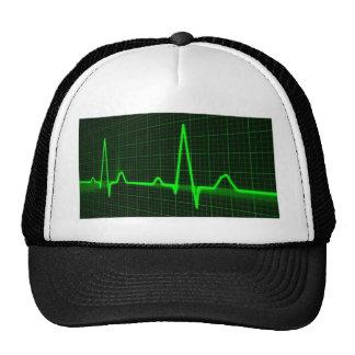 Heart Beat Pulse Trace Hats