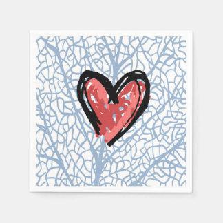 Heart beat Valentine's napkins Disposable Napkins