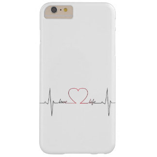 Heart beat with love life inspirational quote barely there iPhone 6 plus case