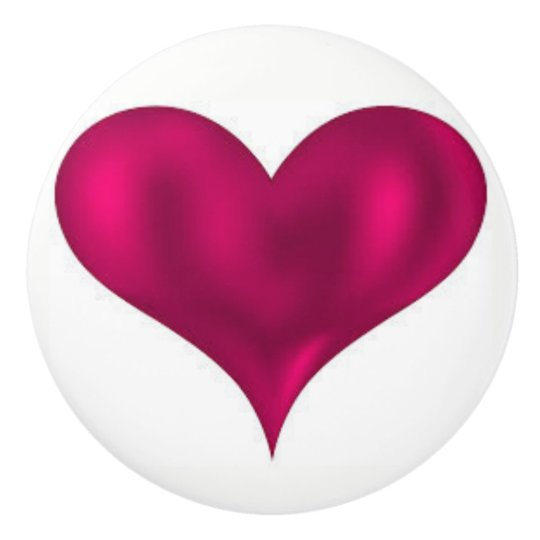 Heart Beats Bathroom Ceramic Knob